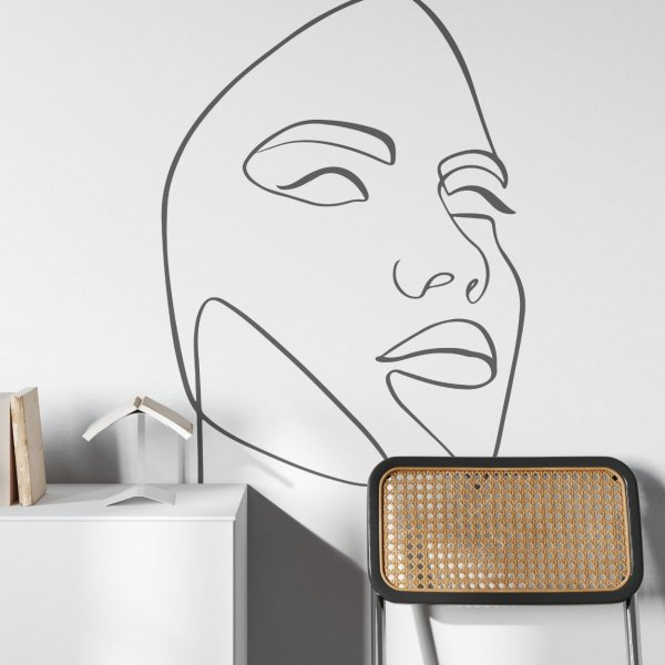 line art mask tapeta