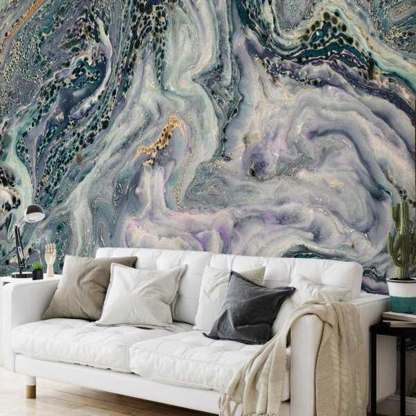 tapeta na ścianę marble turquoise