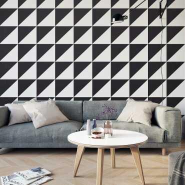 TRÓJKĄTY BLACK & WHITE - Fototapeta designerska