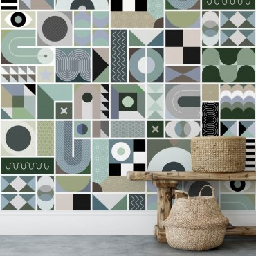 tapeta mosaic tiles