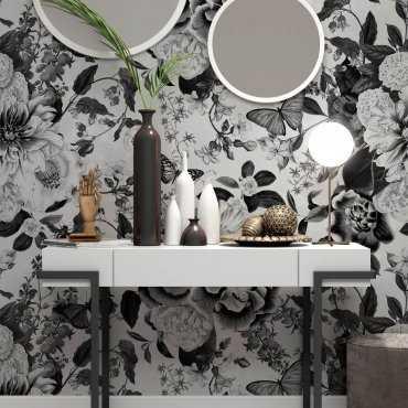 tapeta na ścianę flower darkness wzór
