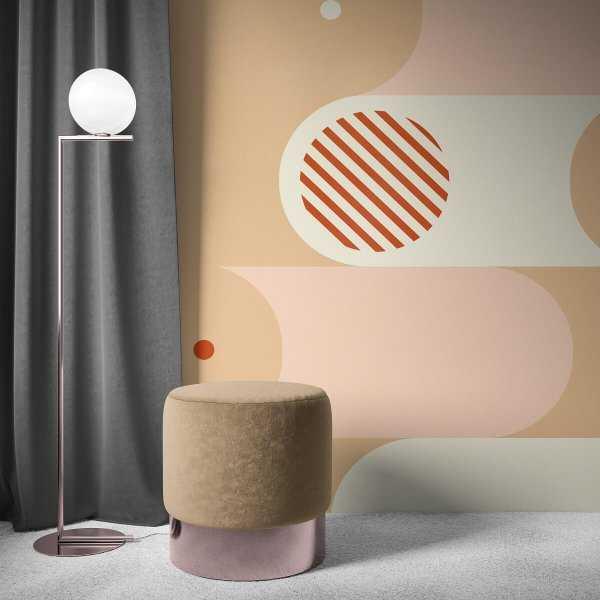 tapeta modern collage shapes