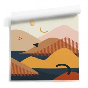tapeta góry mountains shapes