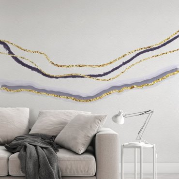 tapeta na ścianę ombre golden wave
