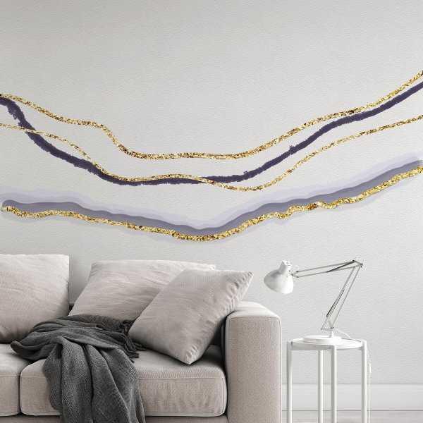 tapeta na ścianę ombre golden wave