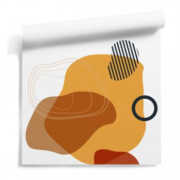 tapeta ścienna orange collage