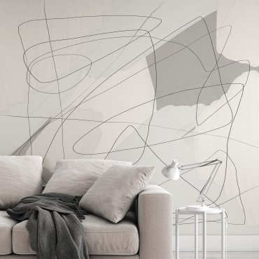 soft abstract lines tapeta
