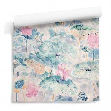 tapeta ścienna watercolor poster flowers