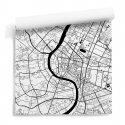 tapeta ścienna mapa bangkok