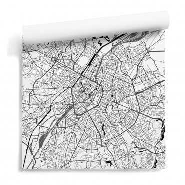tapeta mapa bruksela na ścianę