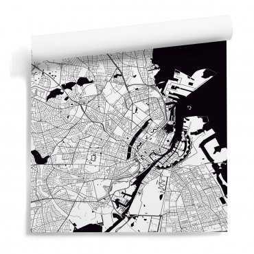 mapa kopenhaga tapeta