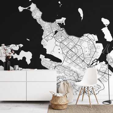 tapeta ścienna mapa rejkiawik