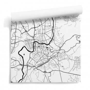 mapa wilno tapeta ścienna
