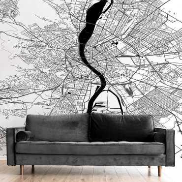 tapeta ścienna mapa budapeszt