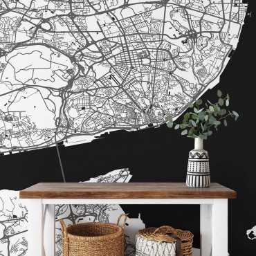 mapa lizbona tapeta