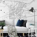 mapa bełchatów tapeta ścienna