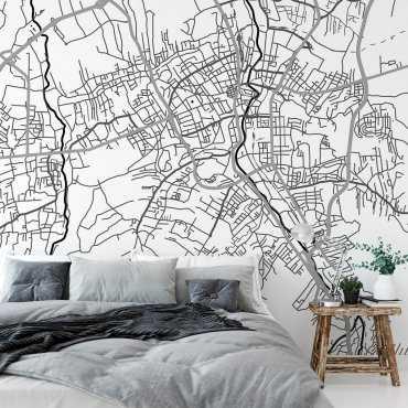 mapa bielsko-biała tapeta ścienna