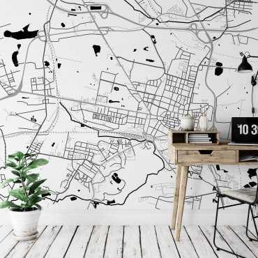 mapa bytom tapeta ścienna