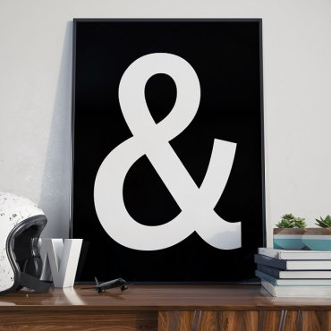 """SYMBOL """"&"""" (AND) - Plakat typograficzny"""