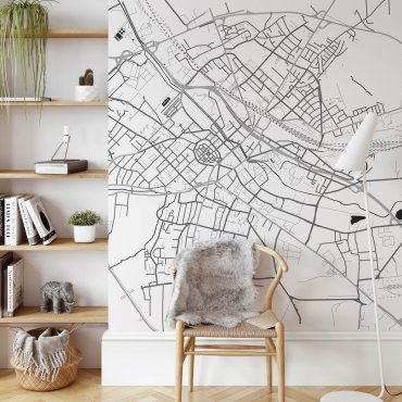 mapa gliwice tapeta na ścianę