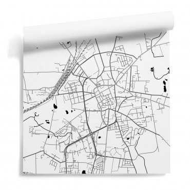 mapa inowrocław tapeta motyw ścienny