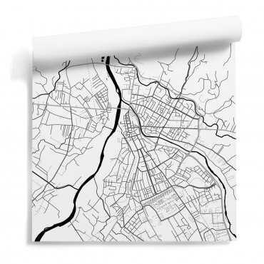 mapa nowy sącz tapeta na ścianę