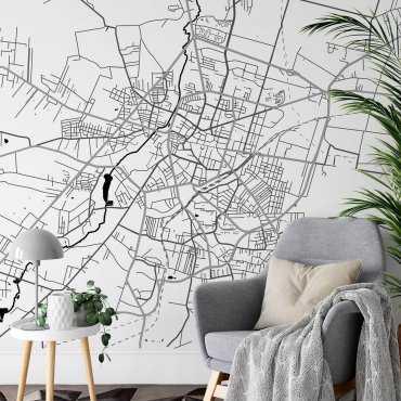 mapa Radom tapeta ścienna
