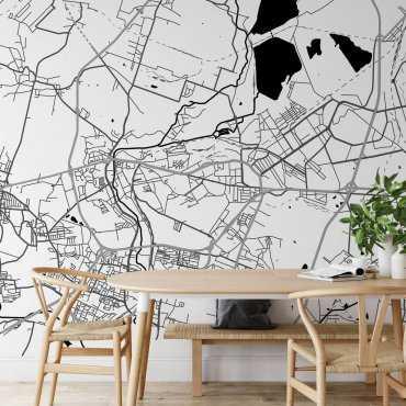 tapeta ścienna mapa dąbrowa górnicza
