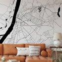 mapa grudziądz tapeta na ścianę