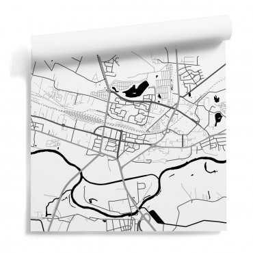 mapa konin tapeta ścienna