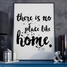 THERE IS NO PLACE LIKE HOME - Plakat typograficzny
