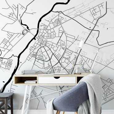 mapa ostrołęka tapeta ścienna