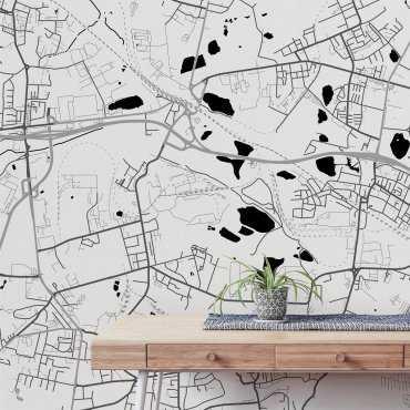 tapeta na ścianę mapa ruda śląska