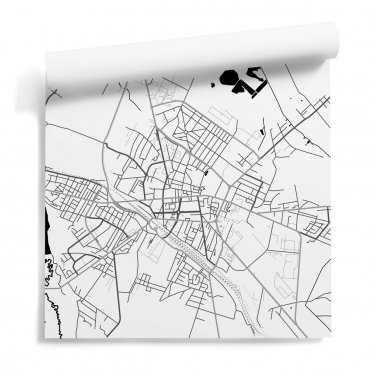 tapeta ścienna mapa siedlce