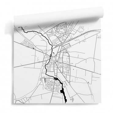 tapeta z motywem mapa skierniewice
