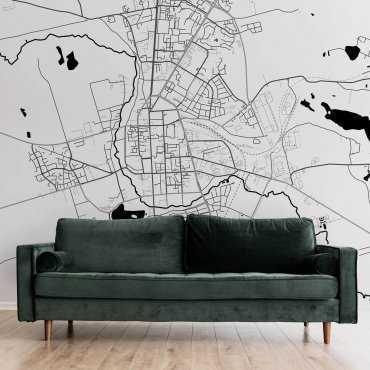 mapa suwałki tapeta ścienna