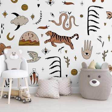 chic boho art tapeta na ścianę