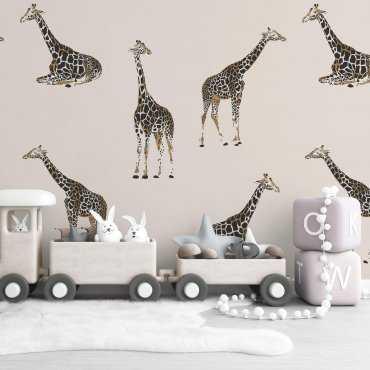 giraffe world wzór tapety