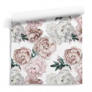 tapeta w kwiaty huge peonies