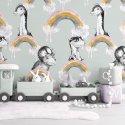tapeta na ścianę jurassic mint
