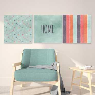 AZTEC HOME - Komplet trzech obrazów na płótnie