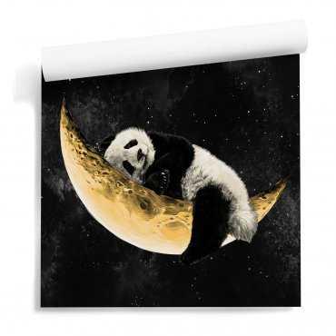 panda moon tapeta dziecięca