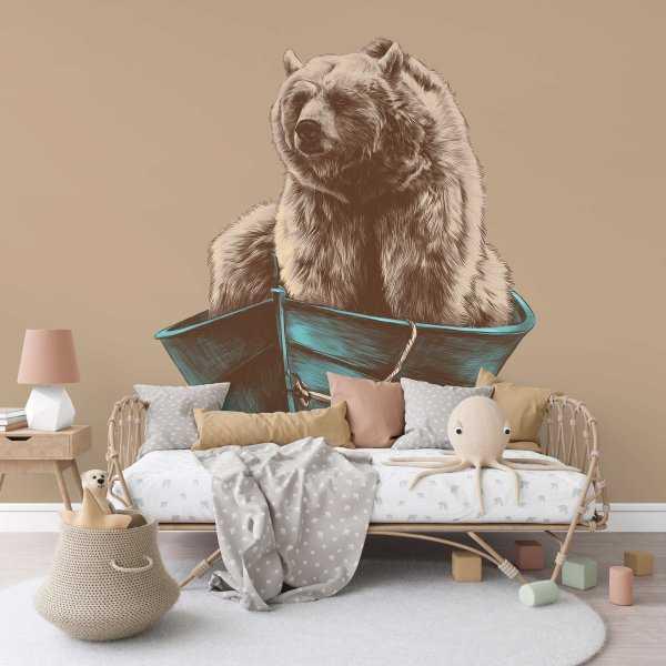 sailing bear tapeta