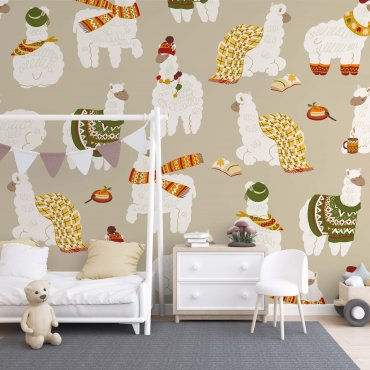 stylish alpaka tapeta na ścianę