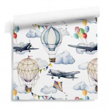 sky balloons tapeta dla dzieci