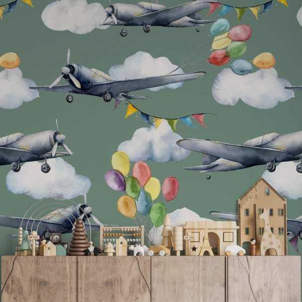 tapeta ścienna aircraft fiesta