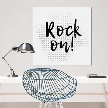ROCK ON - Modny obraz na płótnie