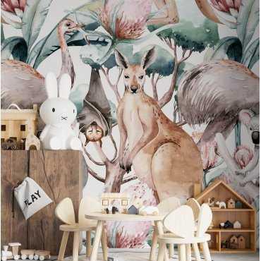 tapeta dziecięca kangoo friends