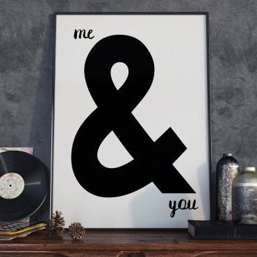 ME & YOU - Plakat designerski