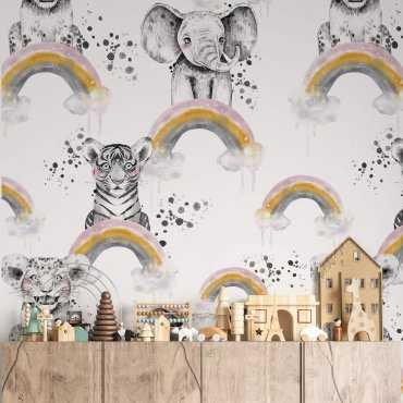 tapeta dla dzieci rainbow babies